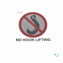 Sticker 'no hook lifting'
